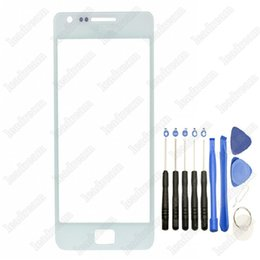 Wholesale Galaxy S2 Glass - 100PCS Front Outer Touch Screen Glass Cover Replacement for Samsung Galaxy s2 i9100 with Tools