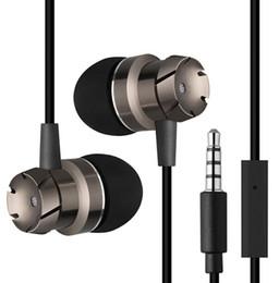 Wholesale Silver Wire Hook - MoreBlue EM3 Turbo Design Earphones Metal Earbuds Stereo Earpieces Super Bass Headset Sport Running Headphones With Mic