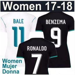 Wholesale Green Women Football Jersey - 2017 2018 women real Madrid soccer jerseys Uniforms lady girls kits 17 18 RONALDO MODRIC BALE KROOS ISCO BENZEMA female football shirt