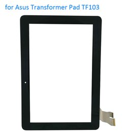 """Wholesale Touch Screen Pads Replacement - Wholesale- ALANGDUO for 10.1"""" Asus Transformer Pad TF103 TF103C TF103CG Touch Screen Digitizer Panel Front Touchscreen Replacement Glass"""