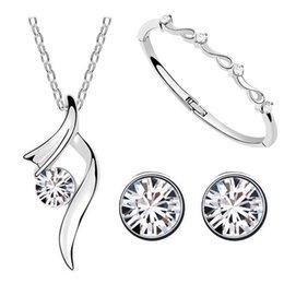 Wholesale Tiger Jade Bracelet - tiger totem new Fashion white hot popular austrian crystal starshine Necklaces Pendants earring bracelet rhinestones Jewelry Set
