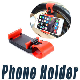 Wholesale Universal Phone Holder For Bike - Car Steering Wheel Phone Holder Clip Car Bike Mount Stand Bracket Universal For iPhone 6 6S Plus 5 Cell Phone GPS