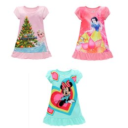 Wholesale Wholesale Kid S Pajamas - 2017 Summer girls dresses Elsa Anna Mermaid Sofia Snow White kids pajamas nightgowns sleepwear clothes 3~10T