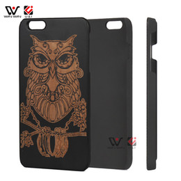 Wholesale I Face Covers - Skull Face Wood Layer Black Frame Case for iPhone 6plus, Dirt-resistant Cover for i Phone 6plus 6splus, Housing for Apple 6 6s plus