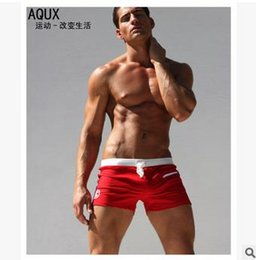 Wholesale Fitness Swimsuits - .Men's Swimming Trunks Swim Briefs Fitness Swimsuit Men Swimwear Vintage Sunga Sexy Swimsuits with Zipper Bag