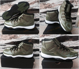Wholesale Stretching Balls - 2017 New Air Retro 11 XI Basketball Shoes For Men,Olive Green Retros 11s Sneakers Basket ball Mens Trainers Athletic Sports Shoes 8-13