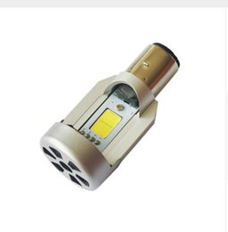 Wholesale Moped Led - wholesale New LED 20W*2 2000LM*2 Hi Lo Beam DC12V 6500K BA20D Plug Led Motorcycle Headlight Bulbs Moped Scooter Motobike Headlamp