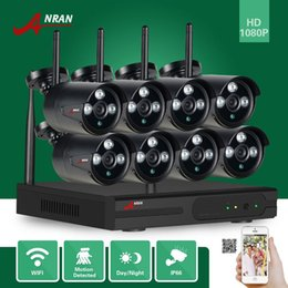 Wholesale Wireless Cctv 2mp - ANRAN P2P HDMI 8CH 1080P WIFI NVR 2MP Outdoor 3 Array IR Waterproof Wireless IP Camera CCTV Video Security Surveillance System