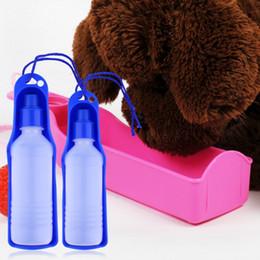 Wholesale Bowl Dog Designs - Wholesale- 250ML Outdoor Portable Pet Dog Water Bottles Foldable Tank Drinking Design Travelling Bowl Feeding Dispenser