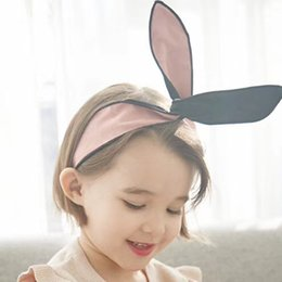 Wholesale Hairbands Adult - Children ribbon princess headbands Boutique DIY girls cute rabbit bunny ears hairbands hair rope adult matching hair accessories R1190
