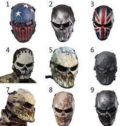 Wholesale Paintball Hunting - Camouflage Hunting Accessories Masks Phantom Military Tactical Outdoor Wargame CS Paintball Airsoft Skull Party Mask Full Face