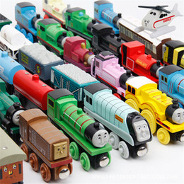 Wholesale Wooden Thomas Train Wholesale - Thomas and His Friends Magnetic Wooden Trains Model Great Kids Christmas Toys Gifts for Children Friends Free Shipping