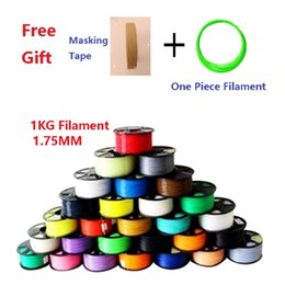 Wholesale Abs 1kg - 1KG 14 Color Hight Quality 3D ABS Filament 1.75mm For 3D Printer Plus Free Masking Tape and One Piece Filament