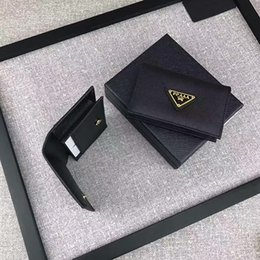 Wholesale Mini Bow Tie - Fashion Two Styles Optional Clamshells Mini Purse Designer Pocket Wallets High Quality Genuine Leather Brand purses with box