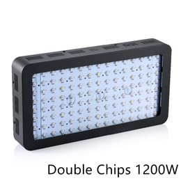Wholesale Very Chip - black 1200W-2 Black Double Chips LED Grow Light Full Spectrum 410-730nm For Indoor Plants and Flower Phrase Very High Yield