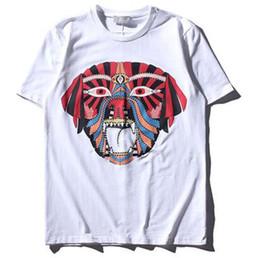 Wholesale Mens Makeup - Facial Makeup Novelty Printed Mens T-shirt Short Sleeve 2017 Summer New Fashion T Shirt for Men Cotton White Tee Shirts