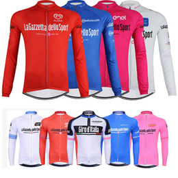 Wholesale Mtb Long - Men's Long Sleeve Tour de Italy Cycling Jersey Outdoor Autumn Ropa Ciclismo Cycle Bike Clothing Bicycle Clothes mtb racing sportswear B2303