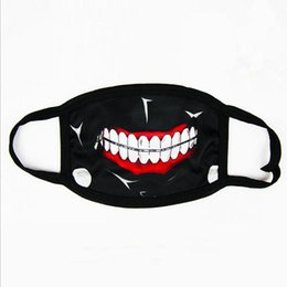 Wholesale Masks For Mouth - Tokyo Ghoul Kaneki Ken Horror Halloween Cosplay Mask, Winter Anti-Dust Cotton Funny Warm Face Mask Mouth Muffle fast shipping