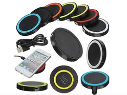 Wholesale Rock Prices - High Quality Universal Qi Wireless Power Charging Charger Pad kit For iPhone and for Samsung Best Price Factory with Retail Box