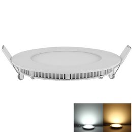 Wholesale Led Round Flat Panel Light - LED Panel Light ceiling lamp 3W 4W 6W 9W 12W 15W 18W 24W ultra thin Recessed downlight Epistar SMD2835 AC85-265V round flat lights