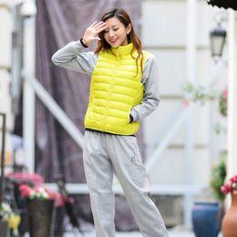 Wholesale Slim Thin Down Jacket - Women's fashion Slim down vest fashion wild vest cute girls wild jacket trend design multi-color optional