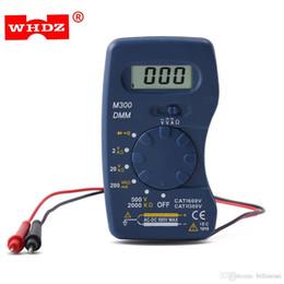 Wholesale Pocket Dmm - Mini Digital Multimeter Pocket DMM AC DC Current Voltage Resistance Multitesters Mini Ammeter Voltmeter Ohm Testers New +B