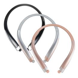 Wholesale Iphone Hands Free Headphones - New HBS1100 Tone Platunum HBS-1100 Wireless Collar Headset Support NFC Bluetooth 4.1 HIFI Sports Hands-free Headphone