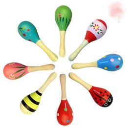 11 CM Bebé Juguete de madera Sonajero Bebé lindo Sonajero juguetes Orff instrumentos musicales Juguetes educativos desde fabricantes