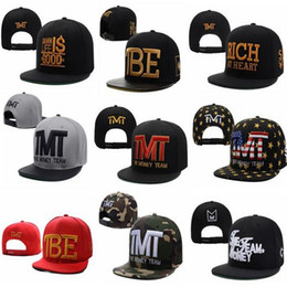 Wholesale Snapback Plastics - Designer Hats Snapback Hats Fitted Styles The Money Team Baseball Ball Cap Boxer Camouflage Snapbacks Hip Hop Hats for Men Women DHL Free