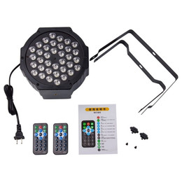 Wholesale Dmx Led Remote - 7 color remote control LED Par light 36 led RGB 7 channels Stage Lighting Effect DMX 512 Master-Slave Led Flat for DJ Disco Party KTV