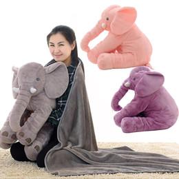 Wholesale Baby Plush Toy Pillow - elephant pillow baby doll children sleep pillow birthday gift INS Lumbar Pillow Long Nose Elephant Doll Soft Plush free shipping