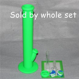 Wholesale Silicone Pads Pc - New Type Silicone Oil Wax Dab Kit with 5.5*4.5 inch Mat Pad silicone bong and 2 pcs 5ml silicone wax containers