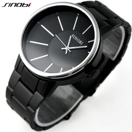 Wholesale Sinobi Stainless Steel Black - SINOBI 9338 Relogio Masculino Stainless Steel Black Quartz Watches Men Luxury Brand quartz-watch 2016 Top Hot Clock Relojes Hombre