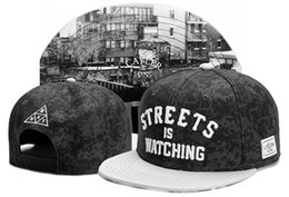 Wholesale Watch Cap Black - Adjustable CAYLER & SONS STREET IS WATCHING snapbacks Hats men snapback caps Cayler and sons snap back hat baseball hats black grey TYMY 528