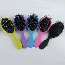 Wholesale Wooden Hair Brushes - Most Popular Massage Hair Brush Hairbrush Paddle Brush Wooden Comb Makeup Tangle Styling Tools with retail package free shipping