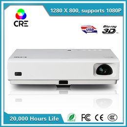 Wholesale Power Supply Prices - Wholesale-new arrival!! good price!!! portable quality short throw built-in power supply android wifi dlp hd 3d projector cre x3001