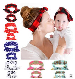 Wholesale Headbands Turban Style - Headband Mom Daughter Headwrap Mom And Me Matching Turban Watercolor Floral Print Hair Accessories Newborn 6 Styles