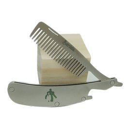 Wholesale Stainless Steel Professional Hair Comb - High Quality Professional Men's mustache comb Anti Static Stainless Steel Folding Comb Can Be Use As A Bottle Opener