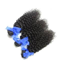 Longitudes mezcladas pelo rizado remy online-Onda rizada brasileña del pelo 6 PC / porción 14-28 mezcla brasileña rizada brasileña del pelo de la longitud de la mezcla Extensión barata del pelo humano de Remy