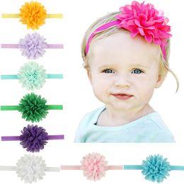 Wholesale Cute Hair Bands For Girls - Baby Headbands Chiffon Flower Kids Elastic Cute Hairbands Newborn Infant Head Bands for Girls Children Hair Accessories KHA127