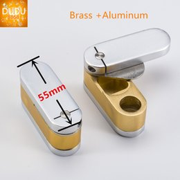 Wholesale Chrome Pipes - Twist Pipe Brass and Chrome Pocket Monkey Pipes Metal Pipes Herb Smoke Tool Also Sell Grinders for Glass Bongs at DUDU8868