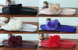 Wholesale Fabric Rooms - (With Shoebox and Dust Bags) High Quality 2017 Rihanna Leadcat Fenty Slide Womens Slippers Fashion Girls Indoor Sandals