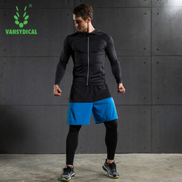 Wholesale Velvet Men Sport Pants - Autumn Winter Men Sports suits long sleeve jacket with velvet pants running basketball quick dry breathable training suits 3pcs