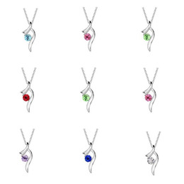 Wholesale Mix Order Pendant - Brand new Austrian crystal necklace floating pendant female alloy ornaments WFN090 (with chain) mix order 20 pieces a lot