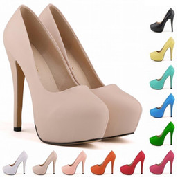 Wholesale girls platforms - Calzado Mujer GIRLS WOMEN PLATFORM PUMPS HIGH HEELS STILETTO COURT SHOES SIZE US 4 5 6 7 8 9 10 11