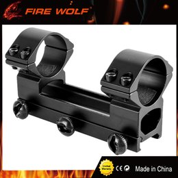 Wholesale Double Saw - FIRE WOLF Hunting Siamesed Double Tube 30mm Rings Scope Mounts for Dovetail 20mm Picatinny Rails See-through