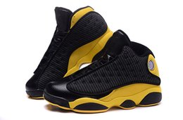Wholesale Canvas Shoes Volleyball - Sport Sneakers Air Retro 13 Melo Golden Nuggets PE Mens Basketball Shoes Sports Retros 13s Black Gold Outdoor Shoes With Box