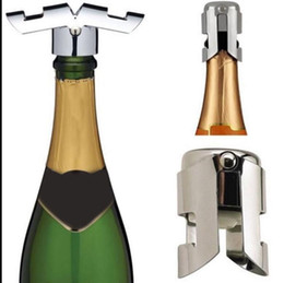 Wholesale Champagne Sparkling Wine Bottle Stopper Stainless Steel Red Wine Plug Bottle Plug Sealer Wine Bottle Plug Sealer KKA1371