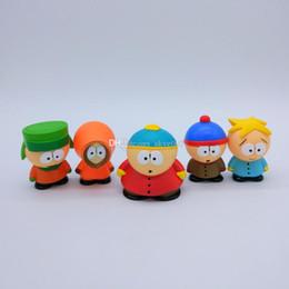 Wholesale South Park Mini Figures - Hot Sale 5pcs Lot 6cm Mini South Park PVC Action Figure Toy For Child Best Gifts
