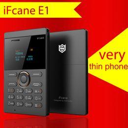 2019 teléfono qwerty de pantalla táctil Nuevos iFcane E1 ultra-delgado para niños pequeños teléfonos con tarjeta mini-bolsillo hombres y mujeres rectos máquina de repuesto